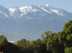 Aussicht vom Top 10 Holiday Park in Kaikoura