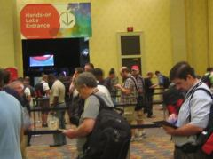 Warteschlange vor den Hands-On Labs an der VMWorld 2011