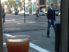 Grapefruit-Saft und Kaffee in Downtown San Francisco