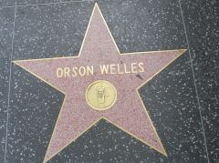 Der Stern von Orson Welles am Hollywood Boulevard