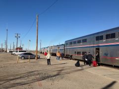 Personalwechsel am Southwest Chief in La Junta, Colorado