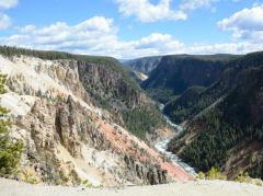 Blick in den Canyon des Yellowstone River