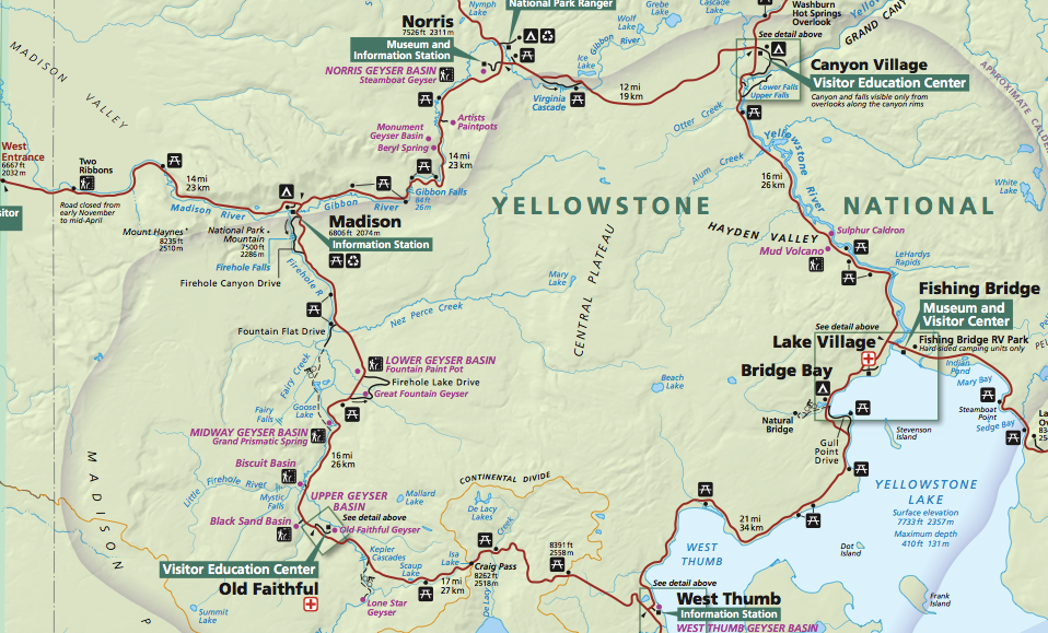 Yellowstone Karte.Herbstferien 2014 Yellowstone Montag Teil Drei Urslis Big News