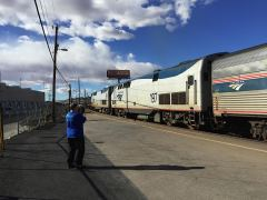 Lokomotiven des Sunset Limited in El Paso, 2014