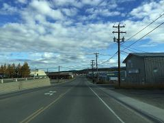 Industrial Road in Whitehorse, unterwegs zu Fraserway Rentals