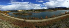 Panorama am Yukon River in Whitehorse