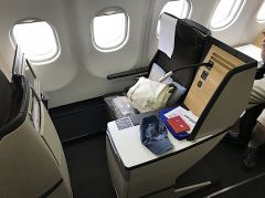 Platz 7K in der Businessclass der Swiss im A330