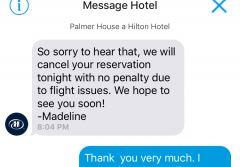 Chat mit dem Palmer House Hilton in Chicago
