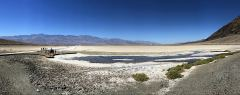 Panoramabild bei Badwater im Death Valley Nationalpark