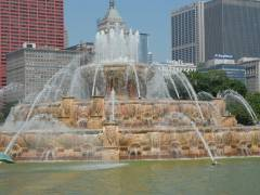 Buckhingham Brunnen im Grant Park in Chicago